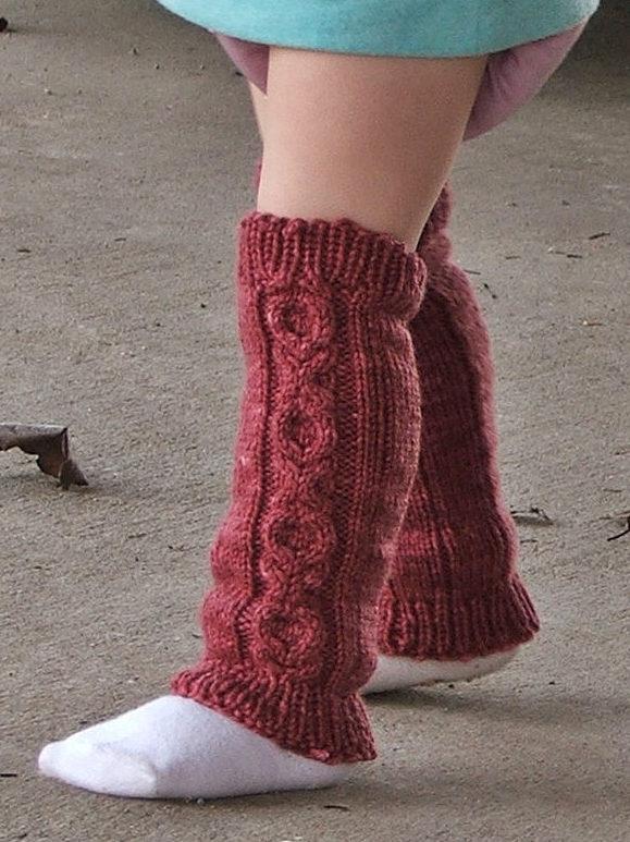 Knitting Pattern for Hugs & Kisses Baby/Child Legwarmers