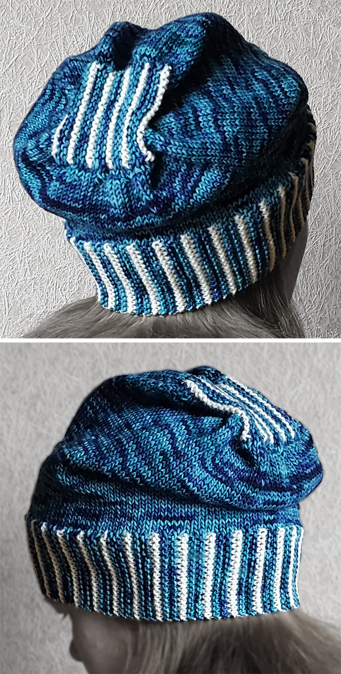 Free Knitting Pattern for Knit-Only Slouch Hat