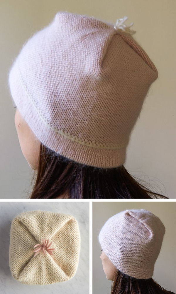 Free Knitting Pattern for Reversible Pleat Hat
