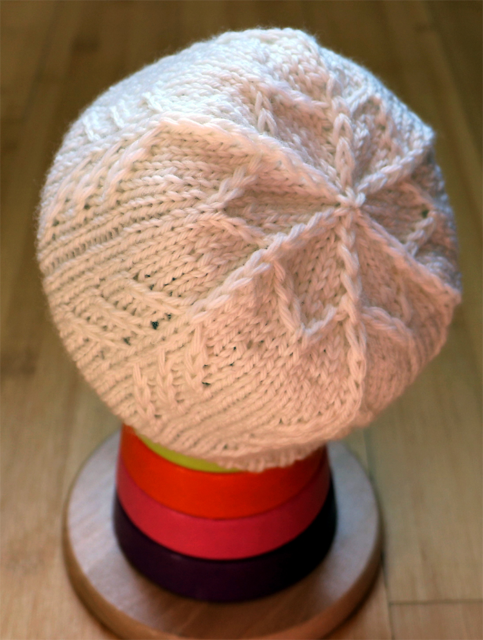 Free Knitting Pattern for Snowflake Baby Hat