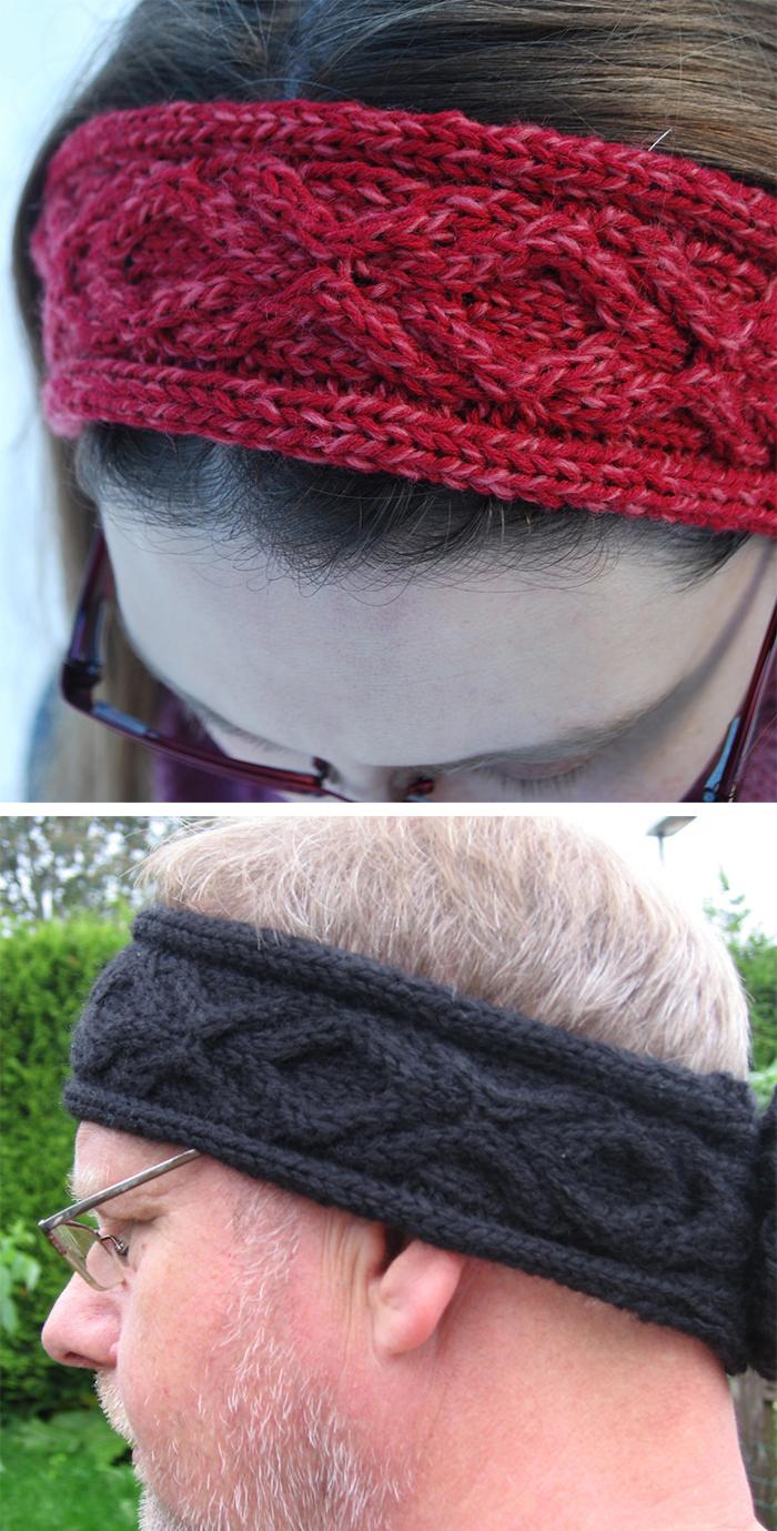 Free Knitting Pattern for XOXO Headband