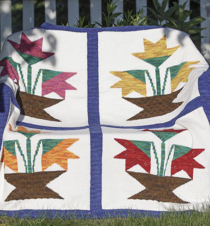 Knitting Pattern for Jan's Garden Afghan