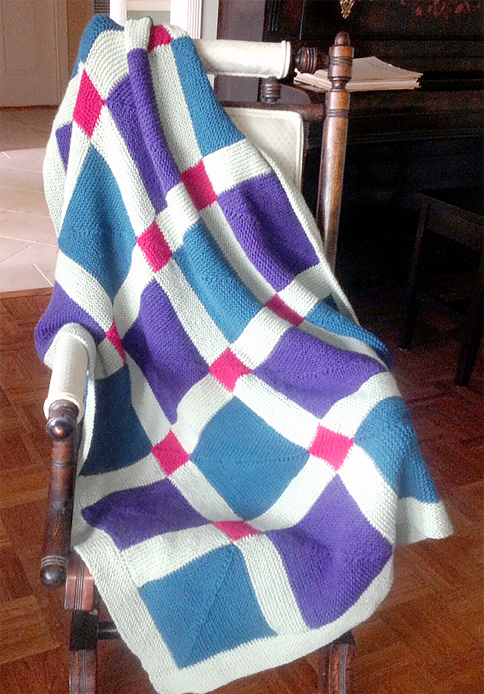 Free Knitting Pattern for Fenced In Afghan