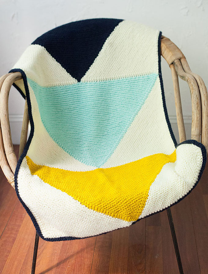 Free Knitting Pattern for Flying Geese Baby Blanket