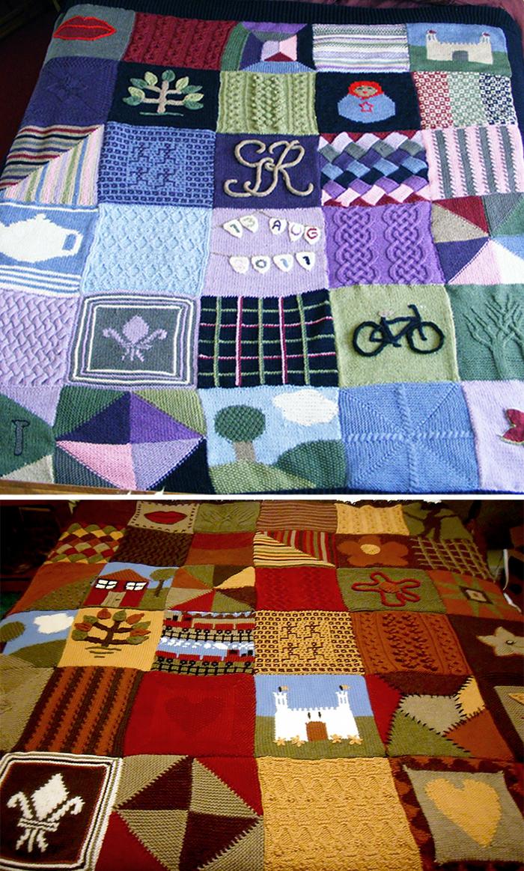 Free Knitting Pattern for Oddball Sampler Afghan