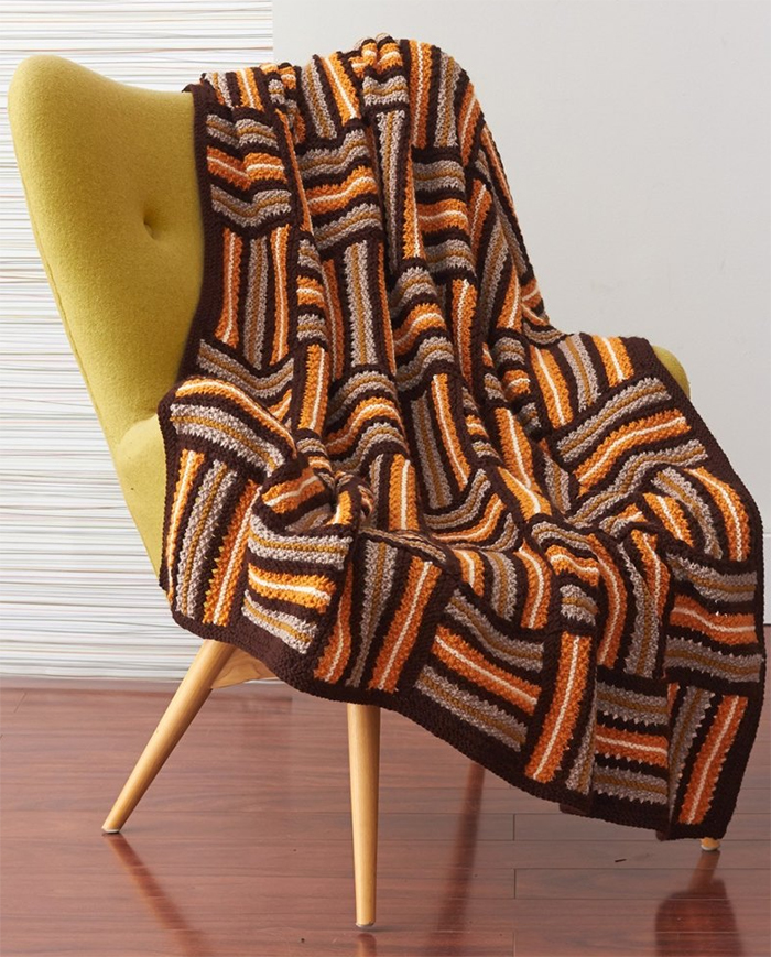 Free Knitting Pattern for Parquet Quilt Afghan
