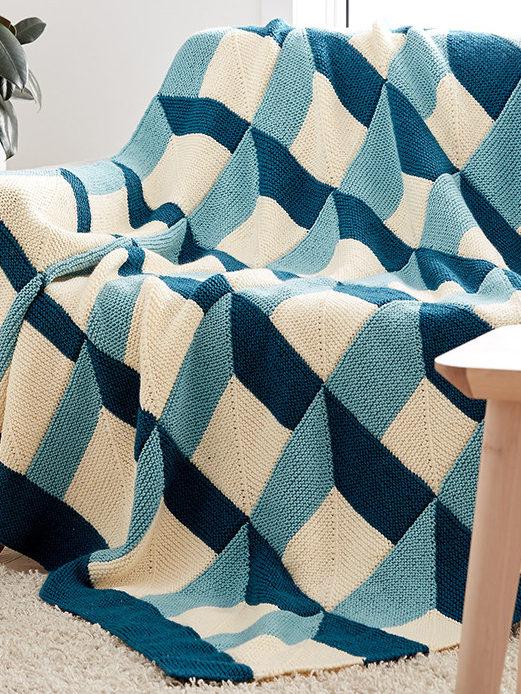 Free Knitting Pattern for Shadowbox Blanket
