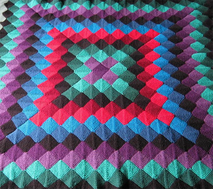 Knitting Pattern for Sunshine and Shadow Throw