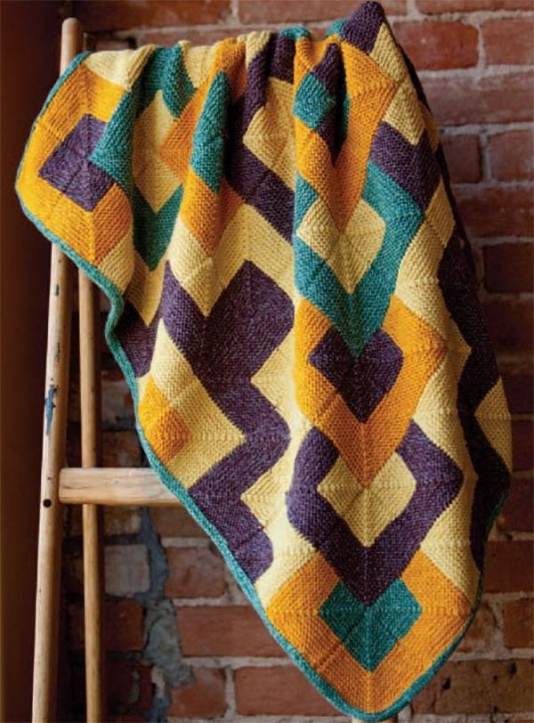 Free Knitting Pattern for Tamarix Quilt Afghan