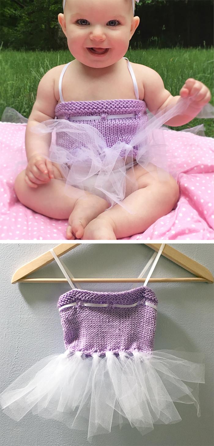 Free Knitting Pattern for Tulle Time Baby Tutu