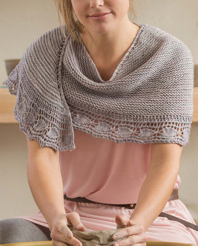 Knitting Pattern for Potters Shawl