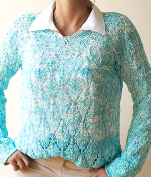Free Knitting Pattern for Falling Leaves Pullover