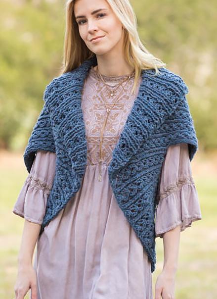 Knitting Pattern for Easy Royal Rib Sweater Wrap
